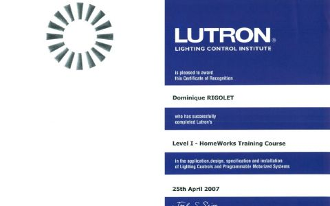 Level I - HomeWorks Training Course LUTRON