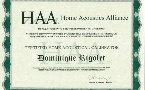 Home Acoustical Calibrator HAA