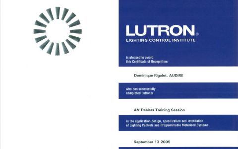 AV Dealers Training Session LUTRON