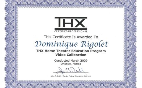 THX Home Theater Education Program Video Calibration