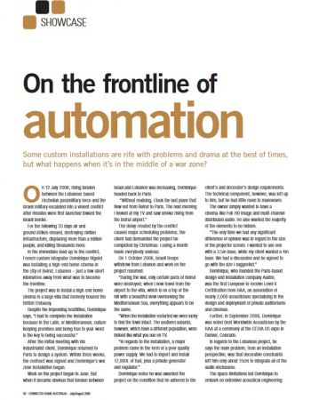 On the frontline of automation - Audire
