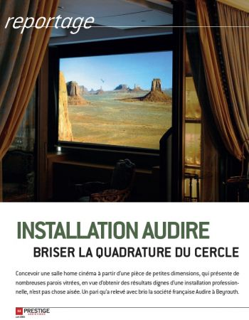 Home cinema in Beirut - Audire
