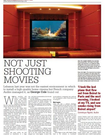 Home cinema in a suburb of Beirut - Audire