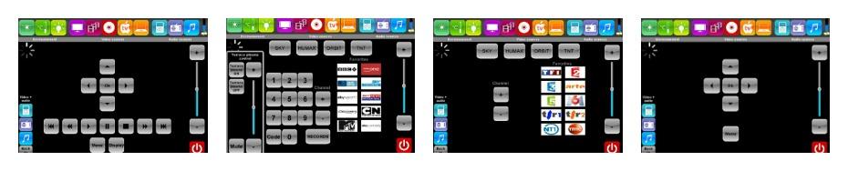 Creston wall-mounted keypad interfaces