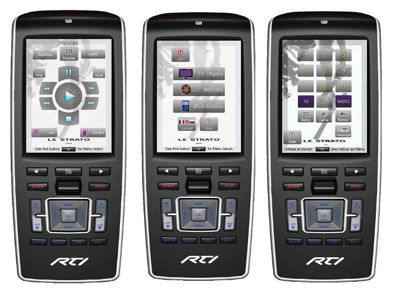 RTI smart remote control interfaces
